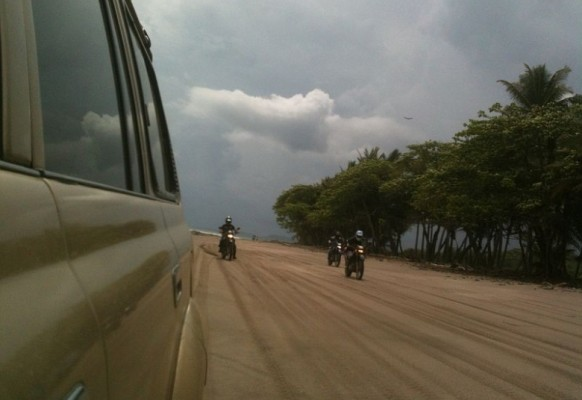 Action mit dem Motorrad