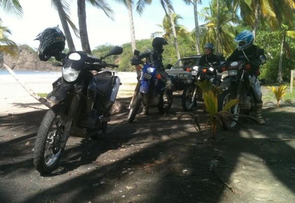 Motorrad Strand