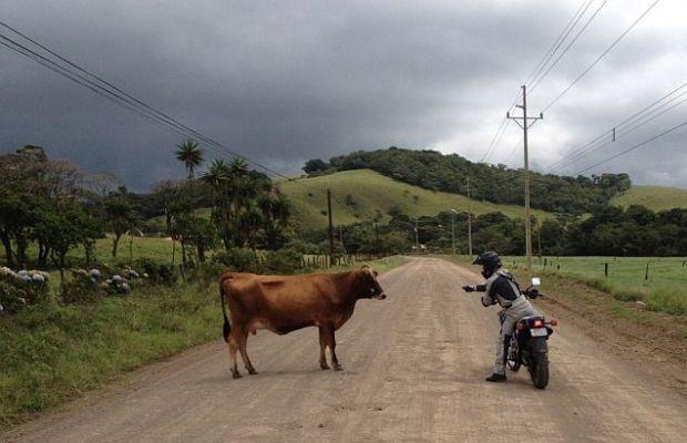 Motorradfahrer in Costa Rica